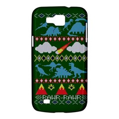My Grandma Likes Dinosaurs Ugly Holiday Christmas Green Background Samsung Galaxy Premier I9260 Hardshell Case