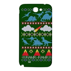 My Grandma Likes Dinosaurs Ugly Holiday Christmas Green Background Samsung Note 2 N7100 Hardshell Back Case