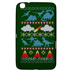 My Grandma Likes Dinosaurs Ugly Holiday Christmas Green Background Samsung Galaxy Tab 3 (8 ) T3100 Hardshell Case