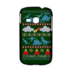 My Grandma Likes Dinosaurs Ugly Holiday Christmas Green Background Samsung Galaxy S6310 Hardshell Case