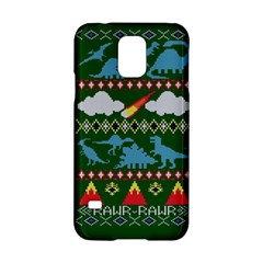 My Grandma Likes Dinosaurs Ugly Holiday Christmas Green Background Samsung Galaxy S5 Hardshell Case