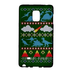 My Grandma Likes Dinosaurs Ugly Holiday Christmas Green Background Galaxy Note Edge