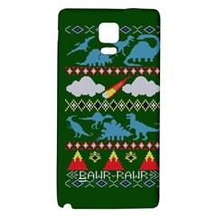 My Grandma Likes Dinosaurs Ugly Holiday Christmas Green Background Galaxy Note 4 Back Case