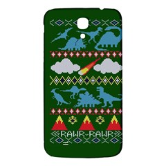 My Grandma Likes Dinosaurs Ugly Holiday Christmas Green Background Samsung Galaxy Mega I9200 Hardshell Back Case