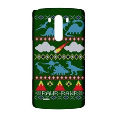 My Grandma Likes Dinosaurs Ugly Holiday Christmas Green Background LG G3 Back Case