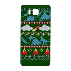 My Grandma Likes Dinosaurs Ugly Holiday Christmas Green Background Samsung Galaxy Alpha Hardshell Back Case