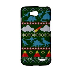 My Grandma Likes Dinosaurs Ugly Holiday Christmas Green Background LG L90 D410