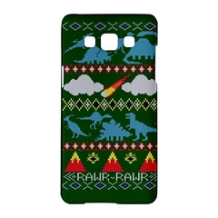 My Grandma Likes Dinosaurs Ugly Holiday Christmas Green Background Samsung Galaxy A5 Hardshell Case