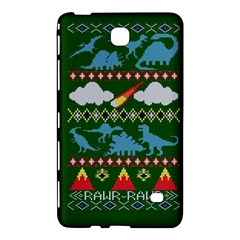 My Grandma Likes Dinosaurs Ugly Holiday Christmas Green Background Samsung Galaxy Tab 4 (7 ) Hardshell Case
