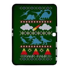 My Grandma Likes Dinosaurs Ugly Holiday Christmas Green Background Samsung Galaxy Tab 4 (10.1 ) Hardshell Case
