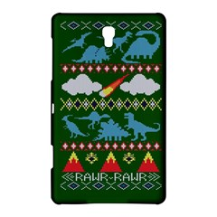 My Grandma Likes Dinosaurs Ugly Holiday Christmas Green Background Samsung Galaxy Tab S (8.4 ) Hardshell Case