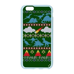 My Grandma Likes Dinosaurs Ugly Holiday Christmas Green Background Apple Seamless iPhone 6/6S Case (Color)