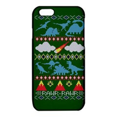 My Grandma Likes Dinosaurs Ugly Holiday Christmas Green Background iPhone 6/6S TPU Case