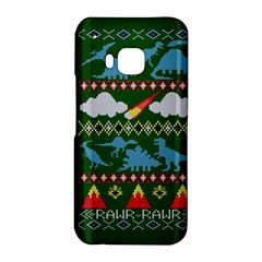 My Grandma Likes Dinosaurs Ugly Holiday Christmas Green Background HTC One M9 Hardshell Case