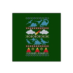 My Grandma Likes Dinosaurs Ugly Holiday Christmas Green Background Satin Bandana Scarf