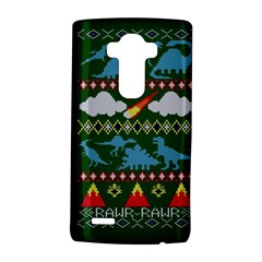 My Grandma Likes Dinosaurs Ugly Holiday Christmas Green Background LG G4 Hardshell Case