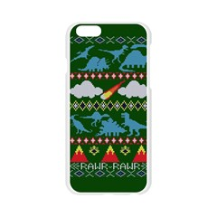 My Grandma Likes Dinosaurs Ugly Holiday Christmas Green Background Apple Seamless iPhone 6/6S Case (Transparent)