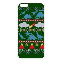 My Grandma Likes Dinosaurs Ugly Holiday Christmas Green Background Apple Seamless iPhone 6 Plus/6S Plus Case (Transparent)