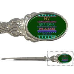 My Grandma Made This Ugly Holiday Green Background Letter Openers