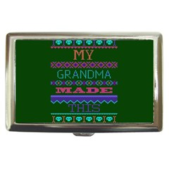 My Grandma Made This Ugly Holiday Green Background Cigarette Money Cases