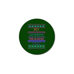 My Grandma Made This Ugly Holiday Green Background Golf Ball Marker (4 pack)
