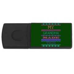 My Grandma Made This Ugly Holiday Green Background USB Flash Drive Rectangular (1 GB)
