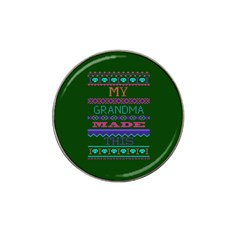 My Grandma Made This Ugly Holiday Green Background Hat Clip Ball Marker (4 pack)