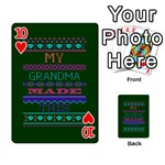 My Grandma Made This Ugly Holiday Green Background Playing Cards 54 Designs  Front - Heart10