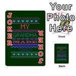 My Grandma Made This Ugly Holiday Green Background Playing Cards 54 Designs  Front - Joker2