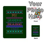 My Grandma Made This Ugly Holiday Green Background Playing Cards 54 Designs  Back