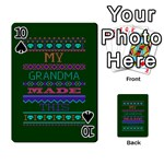 My Grandma Made This Ugly Holiday Green Background Playing Cards 54 Designs  Front - Spade10