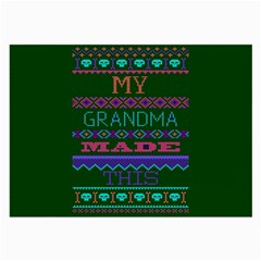 My Grandma Made This Ugly Holiday Green Background Large Glasses Cloth