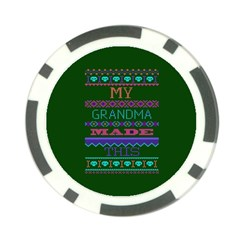 My Grandma Made This Ugly Holiday Green Background Poker Chip Card Guards