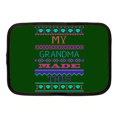 My Grandma Made This Ugly Holiday Green Background Netbook Case (Medium)
