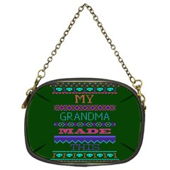 My Grandma Made This Ugly Holiday Green Background Chain Purses (One Side)