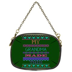 My Grandma Made This Ugly Holiday Green Background Chain Purses (Two Sides)