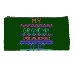 My Grandma Made This Ugly Holiday Green Background Pencil Cases
