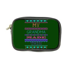 My Grandma Made This Ugly Holiday Green Background Coin Purse