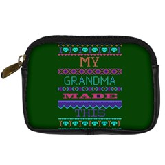 My Grandma Made This Ugly Holiday Green Background Digital Camera Cases