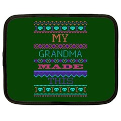 My Grandma Made This Ugly Holiday Green Background Netbook Case (XL)