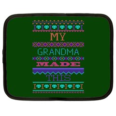 My Grandma Made This Ugly Holiday Green Background Netbook Case (XXL)