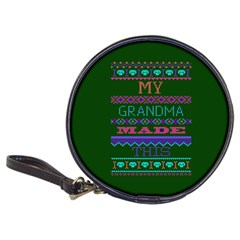 My Grandma Made This Ugly Holiday Green Background Classic 20-CD Wallets