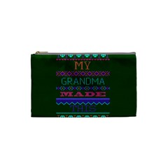 My Grandma Made This Ugly Holiday Green Background Cosmetic Bag (Small)