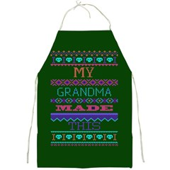 My Grandma Made This Ugly Holiday Green Background Full Print Aprons