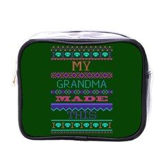 My Grandma Made This Ugly Holiday Green Background Mini Toiletries Bags