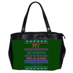 My Grandma Made This Ugly Holiday Green Background Office Handbags (2 Sides)