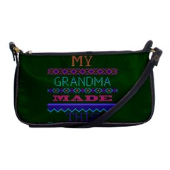 My Grandma Made This Ugly Holiday Green Background Shoulder Clutch Bags