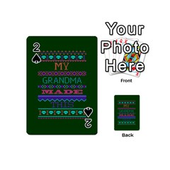 My Grandma Made This Ugly Holiday Green Background Playing Cards 54 (Mini)