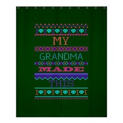 My Grandma Made This Ugly Holiday Green Background Shower Curtain 60  x 72  (Medium)