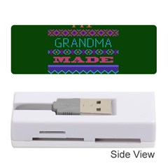 My Grandma Made This Ugly Holiday Green Background Memory Card Reader (Stick)